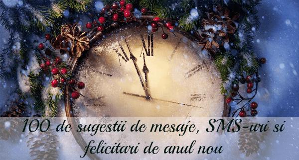 100 de sugestii de mesaje, SMS-uri si felicitari de anul nou