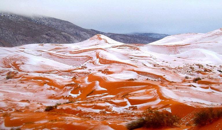 A nins in Sahara pentru prima data in ultimii 37 de ani!